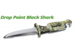 Messer Sporasub Drop Point Black Shark